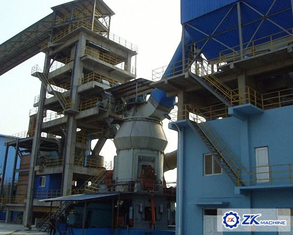 Slag grinding production line in Guangxi