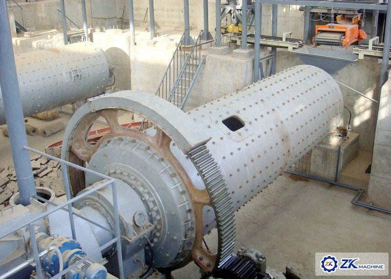 Dry ball mill structure and production site